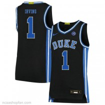 Kyrie Irving Duke Blue Devils #1 Authentic College Basketball Womens Ncaa Jersey Black