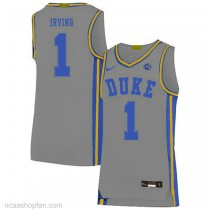 Kyrie Irving Duke Blue Devils #1 Authentic College Basketball Womens Ncaa Jersey Grey