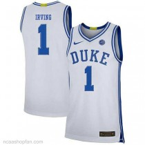 Kyrie Irving Duke Blue Devils #1 Authentic College Basketball Womens Ncaa Jersey White