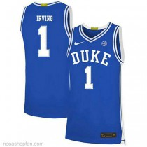 Kyrie Irving Duke Blue Devils #1 Authentic College Basketball Youth Ncaa Jersey Blue
