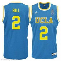 Lonzo Ball Ucla Bruins #2 Authentic Adidas College Basketball Mens Ncaa Jersey Blue