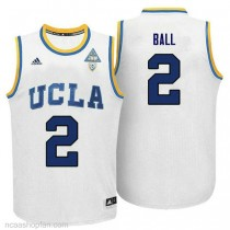 Lonzo Ball Ucla Bruins #2 Authentic Adidas College Basketball Mens Ncaa Jersey White