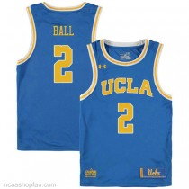 Lonzo Ball Ucla Bruins #2 Authentic College Basketball Womens Ncaa Jersey Blue