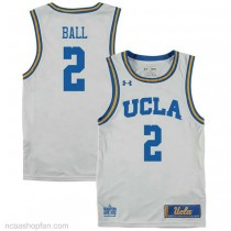 Lonzo Ball Ucla Bruins #2 Authentic College Basketball Youth Ncaa Jersey White