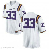 Mens Jamal Adams Lsu Tigers #33 Authentic White College Football Ncaa Jersey No Name