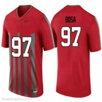 Mens Joey Bosa Ohio State Buckeyes #97 Throwback Authentic Red College Football Ncaa Jersey