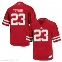 Mens Jonathan Taylor Wisconsin Badgers #23 Authentic Red Colleage Football Ncaa Jersey 102