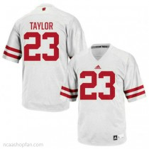 Mens Jonathan Taylor Wisconsin Badgers #23 Authentic White Colleage Football Ncaa Jersey