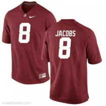 Mens Josh Jacobs Alabama Crimson Tide #8 Authentic Red Colleage Football Ncaa Jersey 102