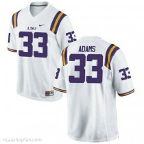 Youth Jamal Adams Lsu Tigers #33 Authentic White College Football Ncaa Jersey 102