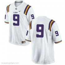 Youth Joe Burrow Lsu Tigers #9 Authentic White College Football Ncaa Jersey No Name