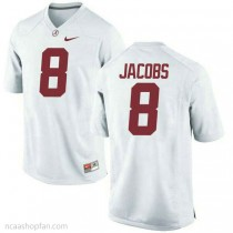 Youth Josh Jacobs Alabama Crimson Tide #8 Authentic White Colleage Football Ncaa Jersey